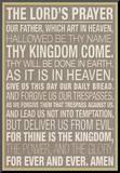 The Lord's Prayer Impressão montada