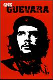 Che Guevara Druck aufgezogen auf Holzplatte