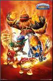 Skylanders Giants - Fire Affiche montée sur bois