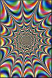 Fractal Illusion Mounted Print