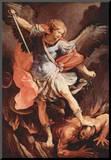 Guido Reni (Archangel Michael) Art Poster Print Mounted Print