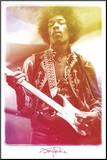 Jimi Hendrix Legendary Music Poster Print Affiche montée sur bois