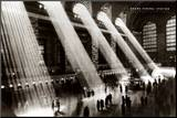 New York, New York - Grand Central Station Mounted Print by Hal Morey