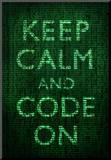 Keep Calm and Code On Poster Impressão montada