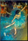 Edgar Degas Dancer Art Print Poster Kunst op hout