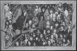 Metal (Heavy Metal Collage) Music Poster Print Affiche montée sur bois