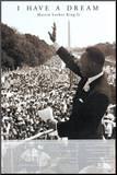 Martin Luther King, Jr. Affiche montée sur bois