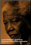 Nelson Mandela Quote iNspire Motivational Poster Impressão montada