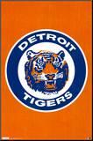 Detroit Tigers Retro Logo Impressão montada