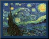 Vincent Van Gogh (Starry Night) Art Print Poster Impressão montada