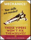 Battlestar Galactica Mechanics! Your Skills are Needed! TV Poster Print Mounted Print