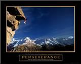 Persévérance, l'escalade Affiche montée sur bois
