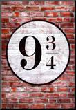 Platform 9 3/4 King's Cross Poster Print Affiche montée sur bois