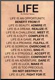 Mother Teresa Life Quote Poster Monteret tryk