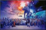 Star wars / La Guerre des étoiles Affiche montée sur bois