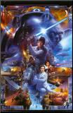 Star Wars - Saga Collage Montert trykk
