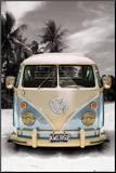 Campeur VW californien Affiche montée sur bois
