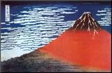 Mount Fuji Kunst op hout van Katsushika Hokusai