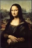 Mona Lisa Druck aufgezogen auf Holzplatte von  Leonardo da Vinci