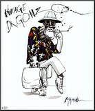 Fear And Loathing In Las Vegas Mounted Print by Ralph Steadman