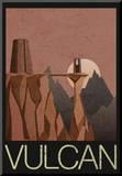 Vulcan Retro Travel Impressão montada