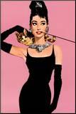 Audrey Hepburn Impressão montada