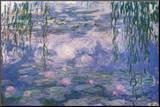 Nympheas Kunst op hout van Claude Monet
