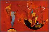 Med og imod Monteret tryk af Wassily Kandinsky