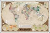 Mapa-múndi Impressão montada