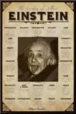 Albert Einstein Kunst op hout
