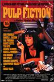 Pulp Fiction – Cover with Uma Thurman Movie Poster Mounted Print