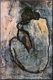 Blauw naakt, ca.1902 Kunst op hout van Pablo Picasso