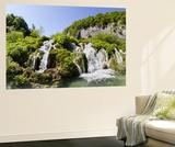 Lower Lakes Cascade in Lake Kaluderovac, Plitvice Lakes, Plitvicka Jezera, Croatia Veggmaleri av Martin Zwick