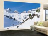 Reichenspitze Range, Hohe Tauern, Richterhuette Mountain Hut, Austria Veggmaleri – stort av Martin Zwick