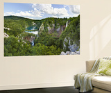Plitvice Lakes in the National Park Plitvicka Jezera, Croatia Plakater af Martin Zwick