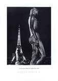 La Terrasse du Palais de Chaillot, Paris Poster par Robert Doisneau