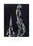 La Terrasse du Palais de Chaillot, Paris Plakat av Robert Doisneau