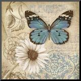 Butterfly Garden II Mounted Print by Conrad Knutsen