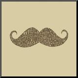 Mustache Styles Impressão montada