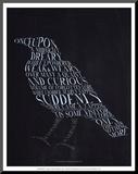 The Raven Druck aufgezogen auf Holzplatte