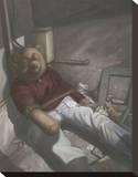Drug Addict Teddy II Impressão em tela esticada por Preston Craig