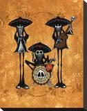 Dos Hombres Band Opspændt lærredstryk af David Lozeau