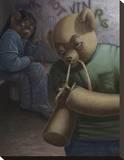 Drug Addict Teddy I Impressão em tela esticada por Preston Craig