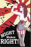 Might Makes Right Reproducción de lámina sobre lienzo por  Shayne of the Dead