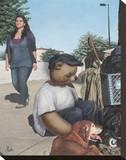 Homeless Teddy Impressão em tela esticada por Preston Craig