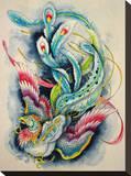 Hou-Ou Firebird Stretched Canvas Print by Clark North