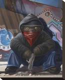 Gangsta Teddy Impressão em tela esticada por Preston Craig