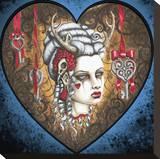 Hunter Kiss Impressão em tela esticada por  Shayne of the Dead