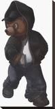 Gangsta Teddy Figure Impressão em tela esticada por Preston Craig