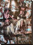 Hulaflickor Sträckt kanvastryck av Marco Almera